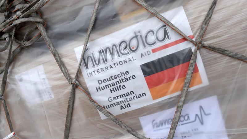 Ein Flugzeug mit Hilfsgütern ist vom Münchner Flughafen gestartet.