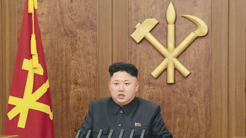 Kim Jong Un bei der Neujahrsansprache (Foto: Archivbild)