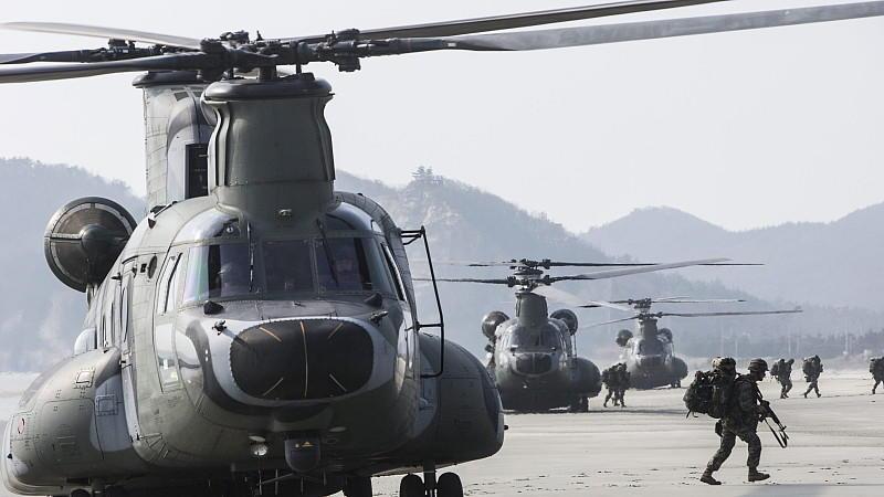 Am jährlichen südkoreanischen Militärmanöver 'Hoguk' nehmen dieses Jahr viermal so viele Soldaten wie in den Vorjahren teil.