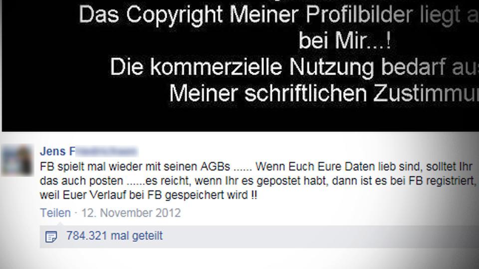 Screenshot eines Facebook-Posts, der als Hoax verbreitet wird.