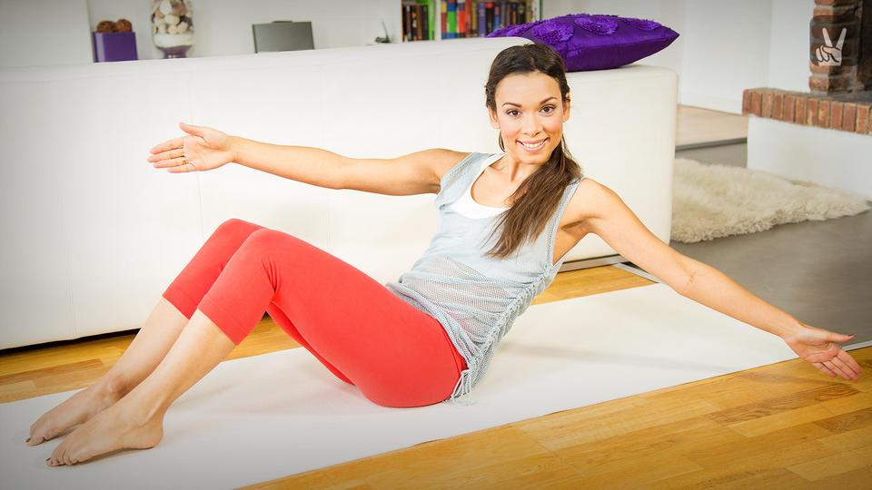 Pilates übungen Für Einen Flachen Bauch