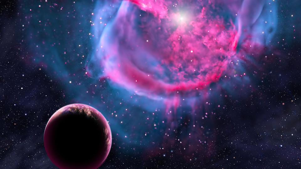 HANDOUT - Eine künstlerische Darstellung zeigt einen erdähnlichen Planeten, der um seine Sonne kreist. US-Astronomen haben nach eigenen Angaben die bislang erdähnlichsten Planeten bei anderen Sternen entdeckt. Die beiden fernen Himmelskörper kreisen