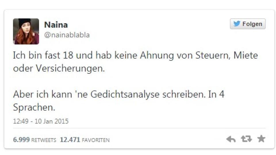 """17-jährige Schülerin aus Köln kritisiert Schulsystem: """"Keine Ahnung von Steuern und Miete"""""""