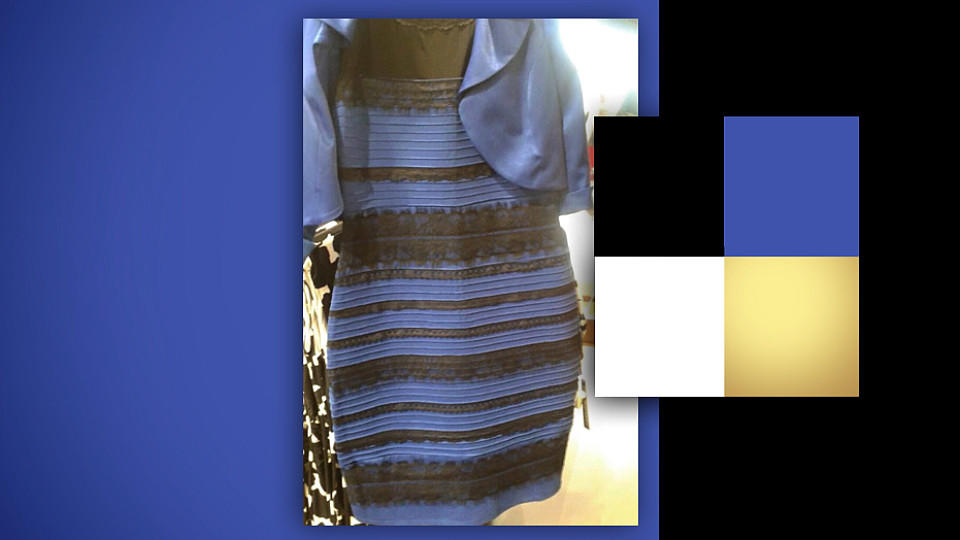 Kleid Blau Gold