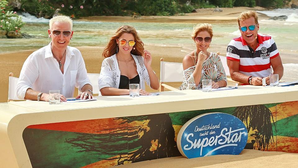 Die DSDS-Jury 2016: H.P. Baxxter, Vanessa Mai, Michelle und Dieter Bohlen auf Jamaika