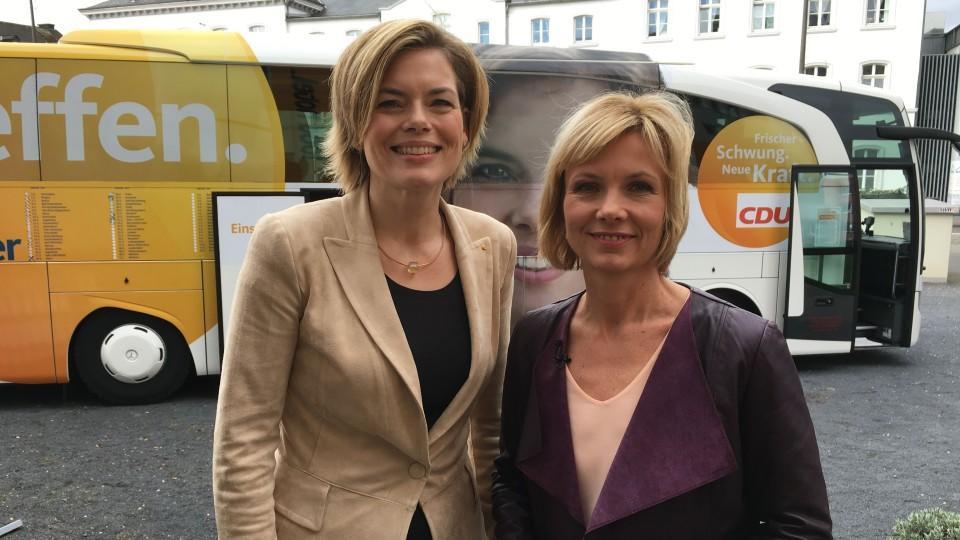 CDU-Spitzenkandidatin Julia Klöckner im Interview mit Ilka Eßmüller.