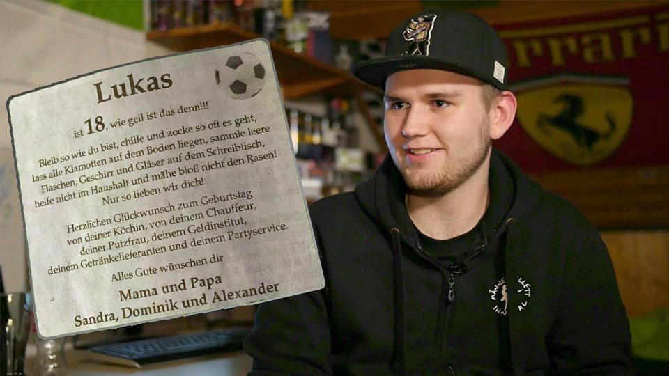 Lustige Anzeige zum 18. Geburtstag: Das sagt Lukas Kottwitz zum Familienwitz