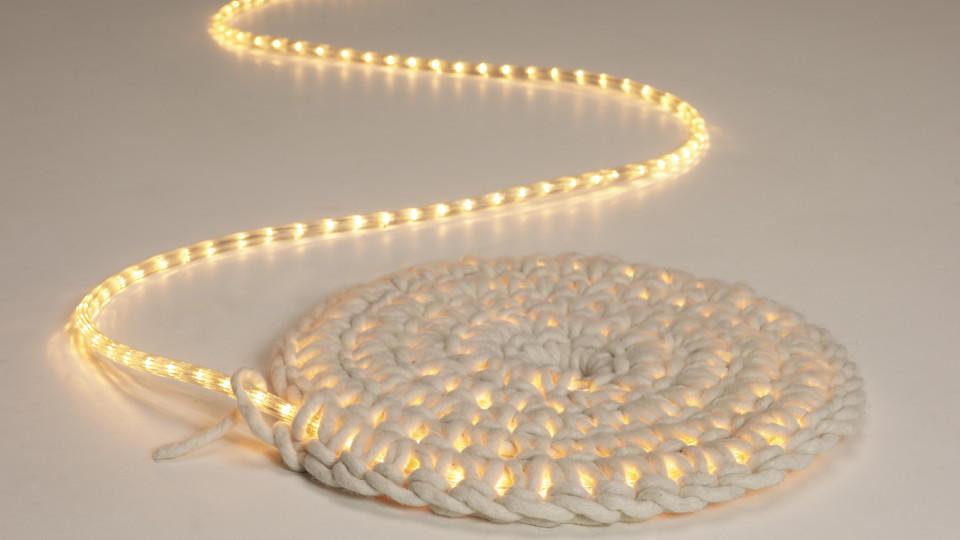 Teppich Häkeln Dieser Leuchtteppich Sorgt Für Stilvolles Ambiente