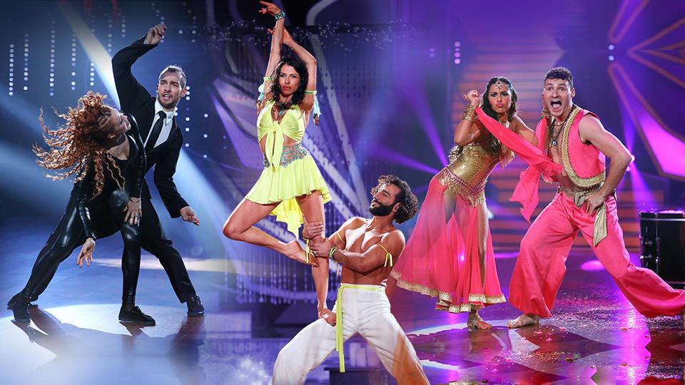 In der neunten Liveshow gibt es von den Promis einen Einzeltanz und Tanzduelle.