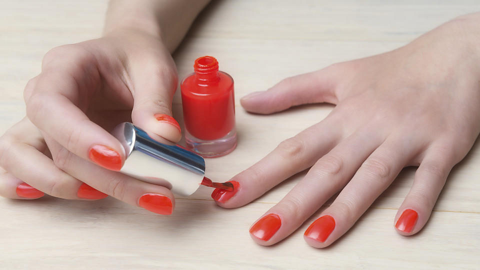 Manicure process at home, nails coating