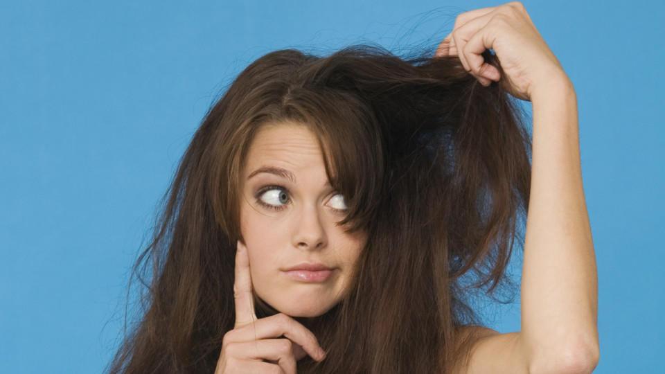 Störrische Haare glätten