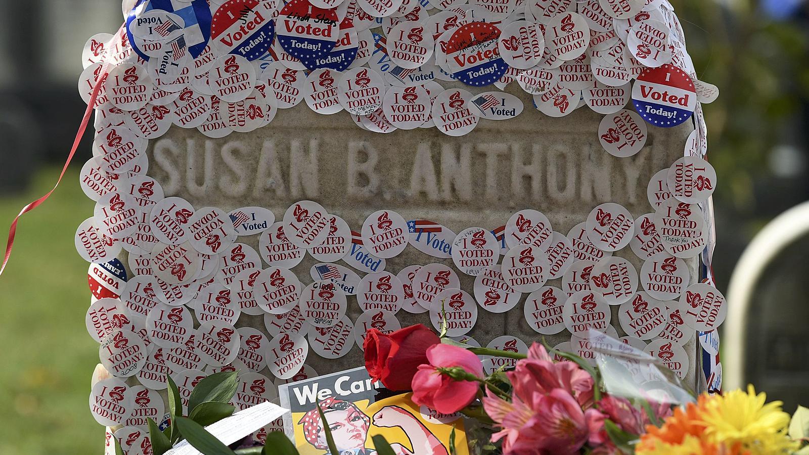 Das Grab von Susan B. Anthony wird zur Pilgerstätte.