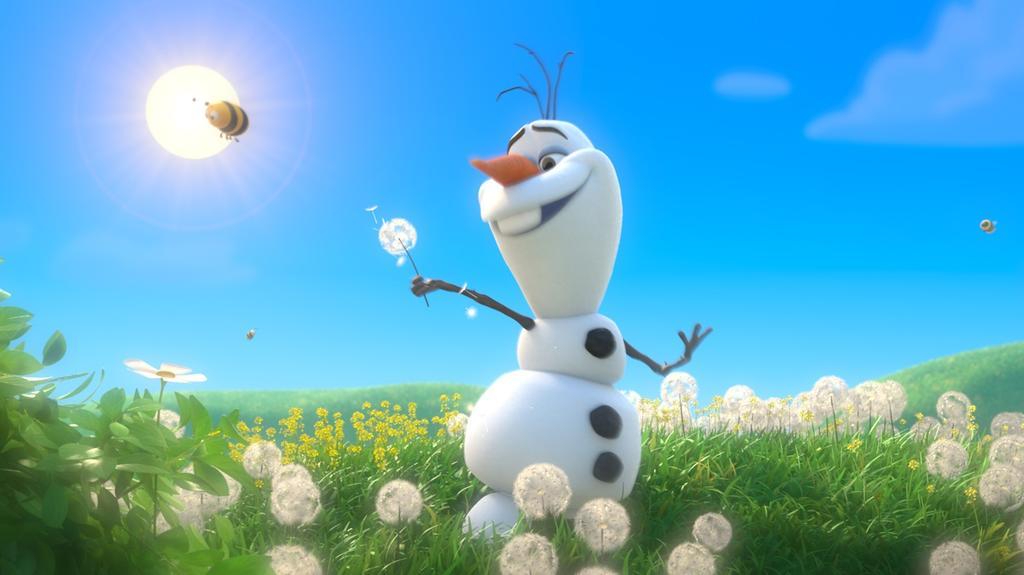 Die Eiskönigin - Völlig Unverfroren: Schneemann Olaf wünscht sich nichts sehnlicher, als endlich einmal einen Sommer zu erleben. Dass sein Schneekörper sich mit der Hitze nicht gut vertragen würde, ist für den gutherzigen Träumer nebensächlich.