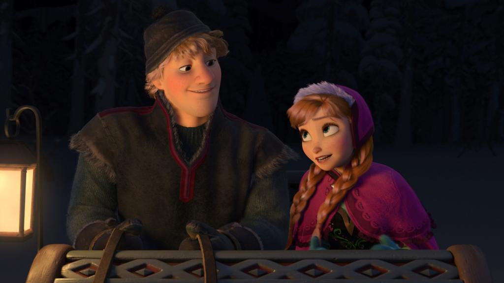 Kristoff und Anna auf der Suche nach Eiskönigin Elsa