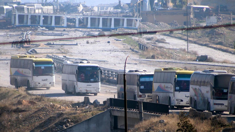 Busse verlassen Aleppo