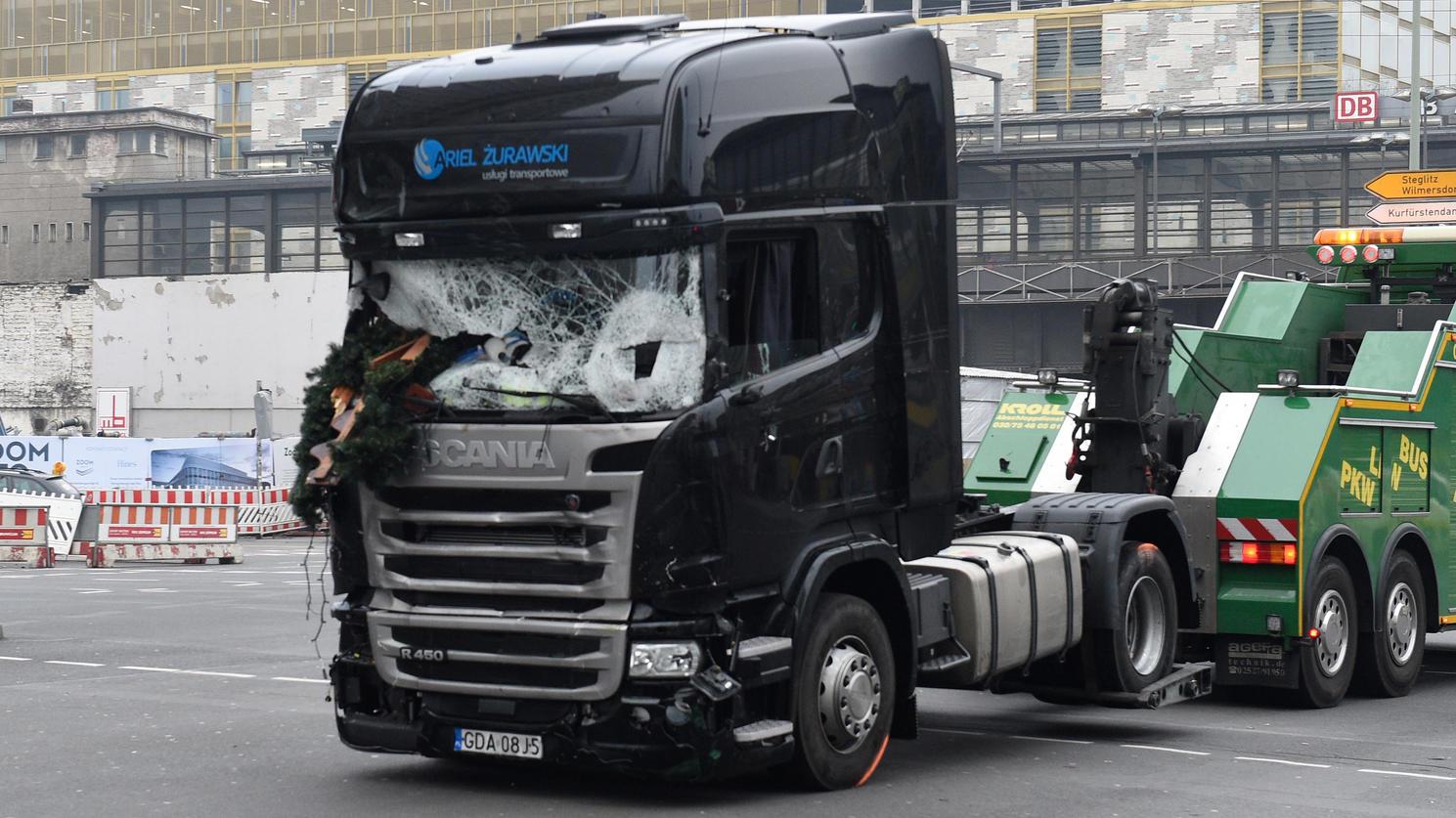Mit diesem Lastwagen von Lukasz U. fuhr der Attentäter über den Berliner Breitscheidplatz.