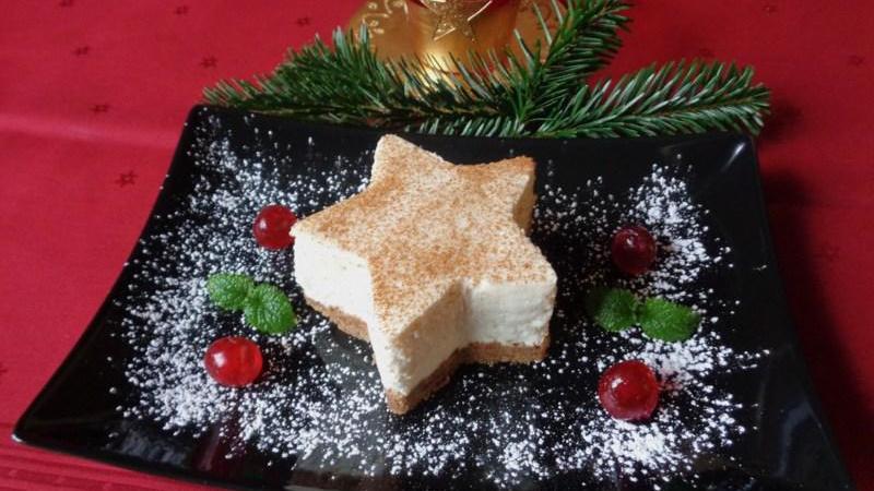 Ein Weihnachtsstern zum Anbeißen: Dieses Dessert lässt sich im Voraus vorbereiten.