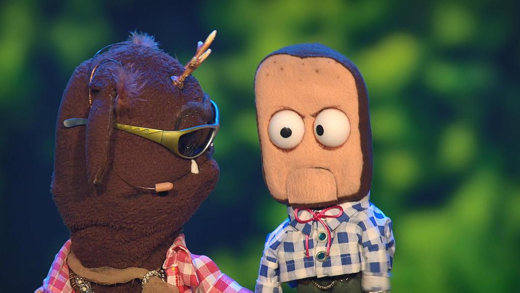 """""""Die Puppenstars"""": Joe Heinrichs Puppen """"Wolpert"""" und """"Leberkäs-Bob"""""""