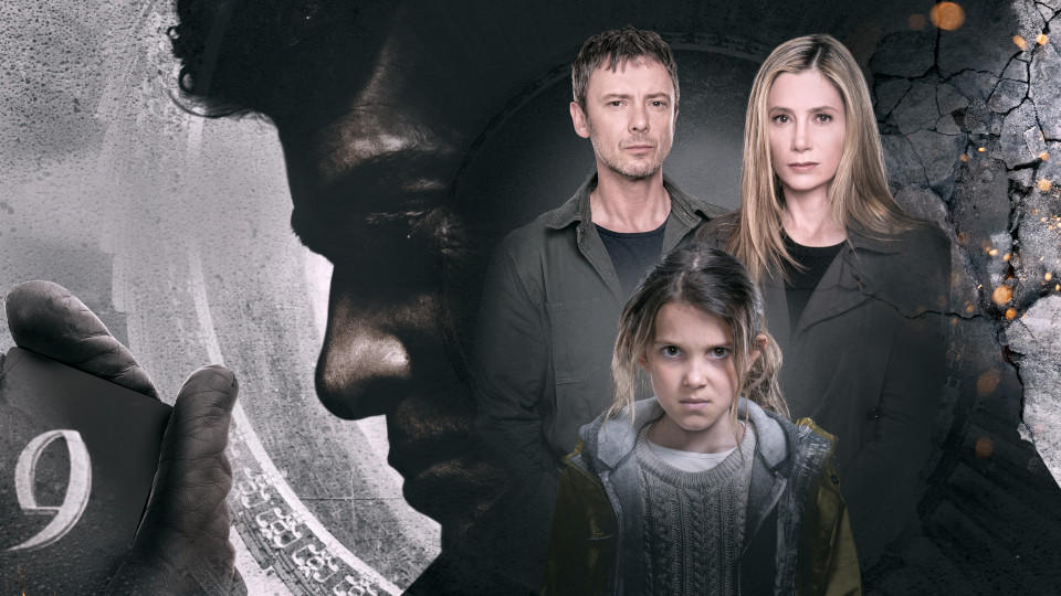 Picture shows: (Large silhouette) Shepherd (JAMES FRAIN). Jack Whelan (JOHN SIMM), Amy Whelan (MIRA SORVINO) and (front) Madison (MILLIE BROWN)