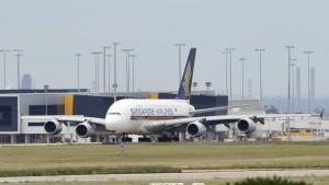 Airbus A380 von Singapore Airlines
