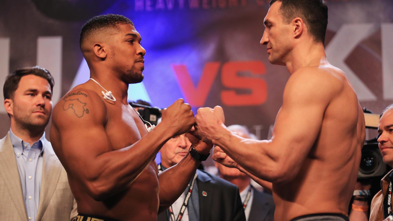 Anthony Joshua v Wladimir Klitschko Weigh-in