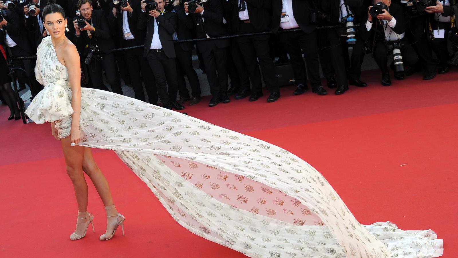 Cannes 2017 Kendall Jenner stiehlt auf dem roten Teppich