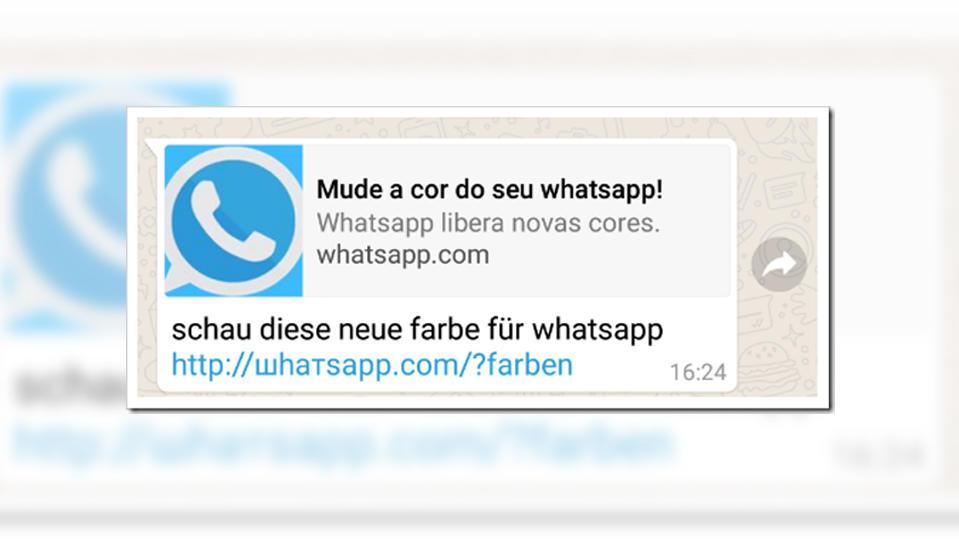 """Whatsapp-Kettenbrief Falle """"Neue Farben"""""""