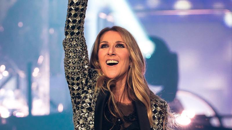 Celine Dion bei einem Auftritt 2017  in London