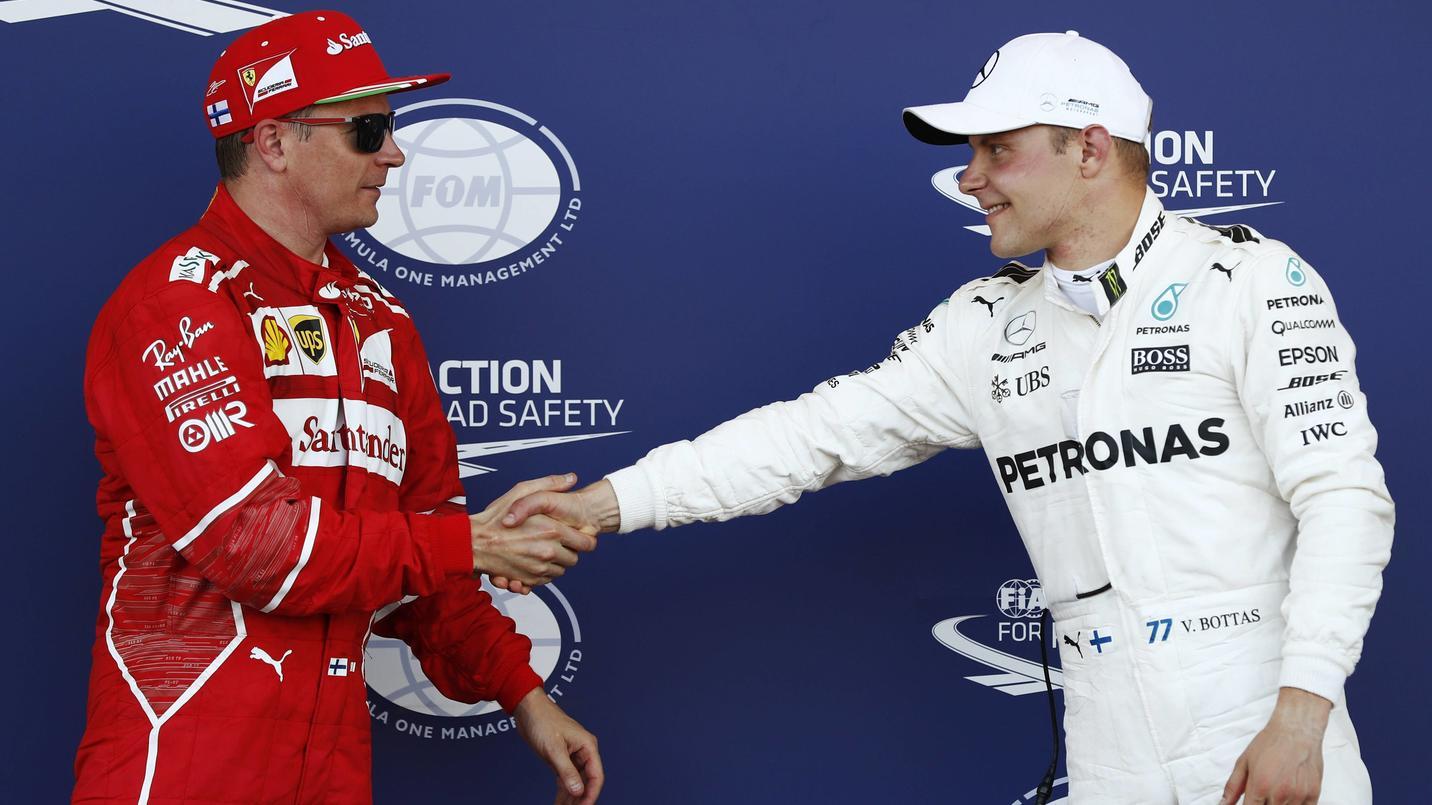 Die beiden Adjutanten im WM-Kampf: Kimi Räikkönen und Valtteri Bottas