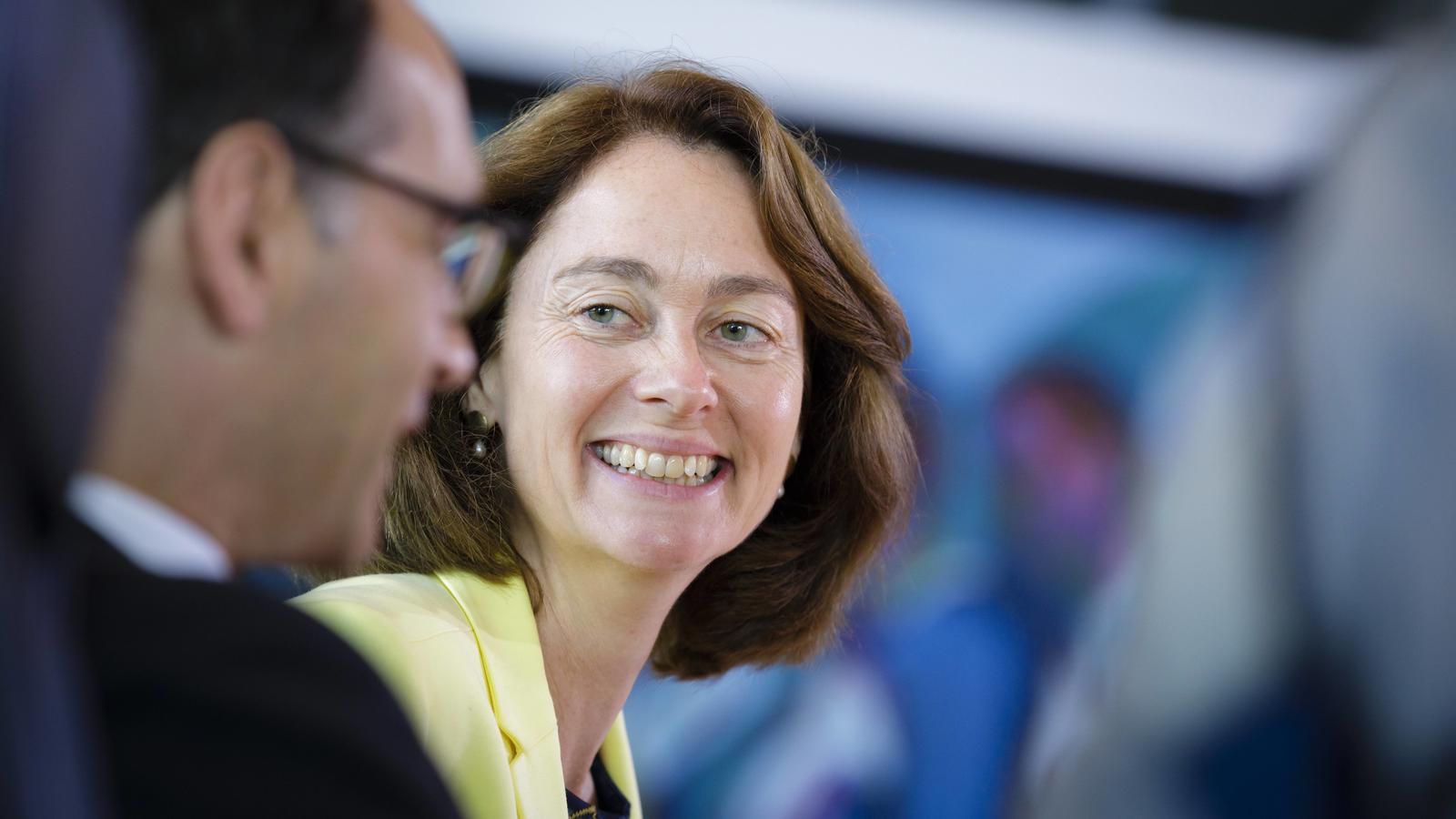 Bundesfamilienministerin Katarina Barley SPD macht sich für eine Frauenquote stark.