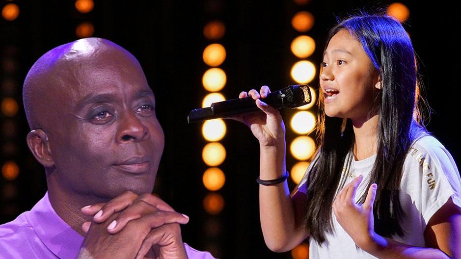 Die zwölfjährige Tiara verzaubert die Jury mit ihrem gefühlvollen Gesang.