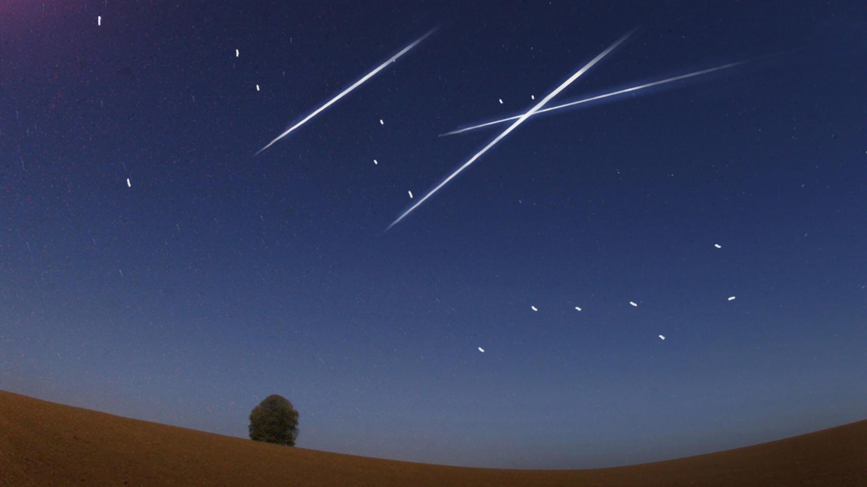 Ein kosmisches Feuerwerk erstrahlt in der Nacht vom 20. auf den 21. Oktober  am Firmament.