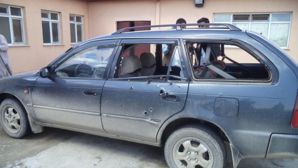 Auto von Anja Niedringhaus und Kathy Gannon nach dem Angriff