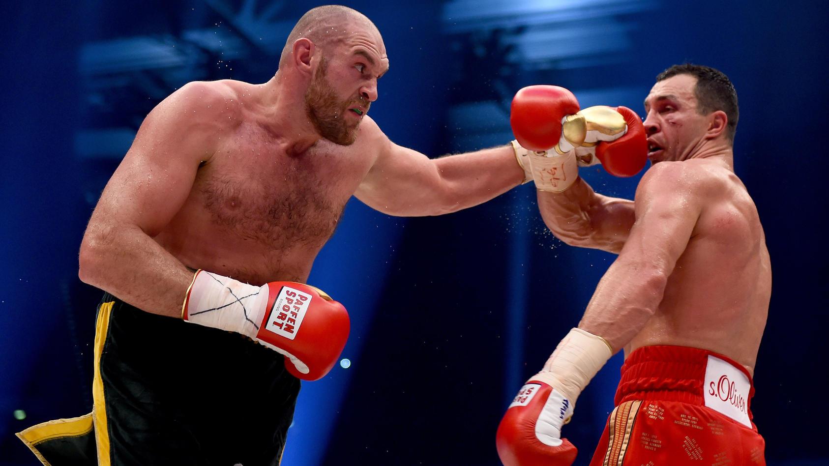 Bei seinem Sieg gegen Wladimir Klitschko präsentierte sich Tyson Fury mit 112 Kilogramm topaustrainiert.
