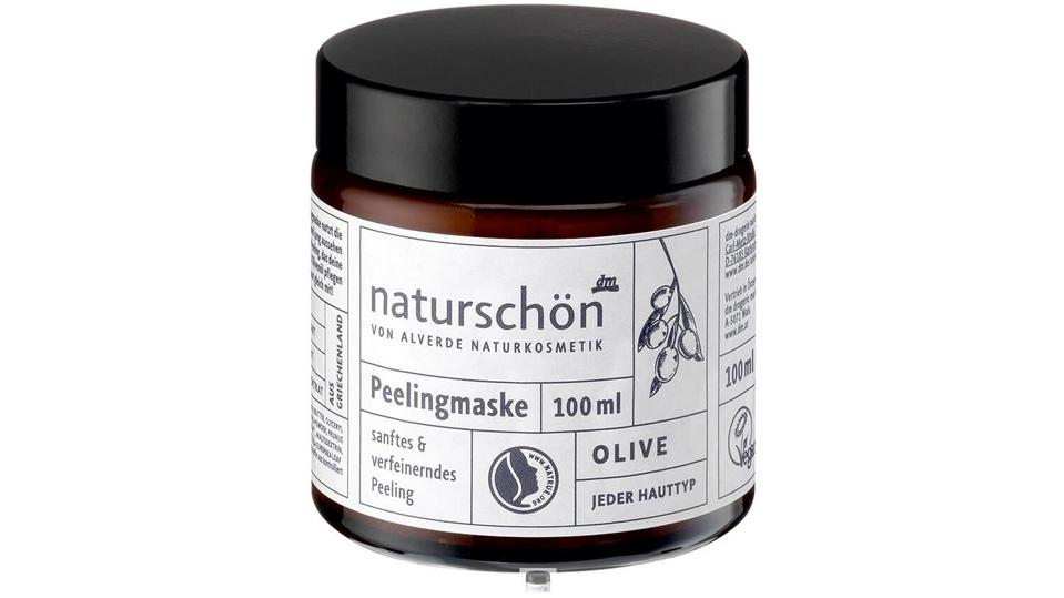 'Dm' ruft den Artikel 'Alverde Naturschön Peelingmaske 100 ml' zurück.