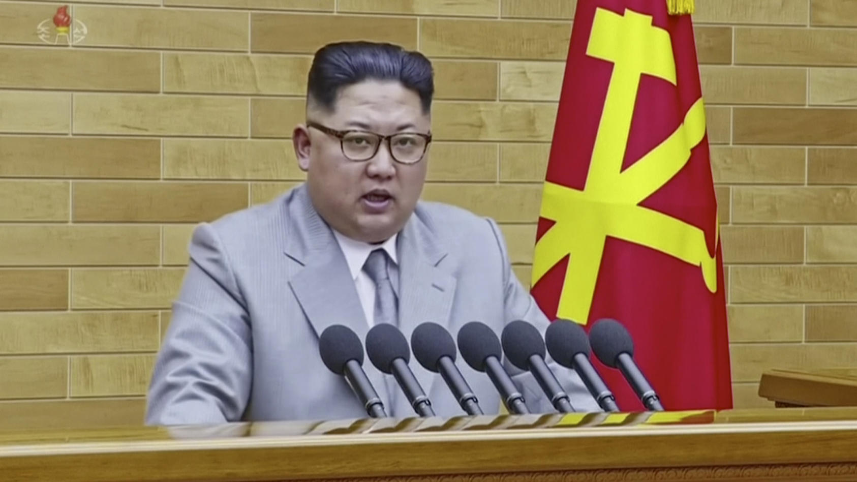 Kim Jong Un bei seiner Neujahrsansprache