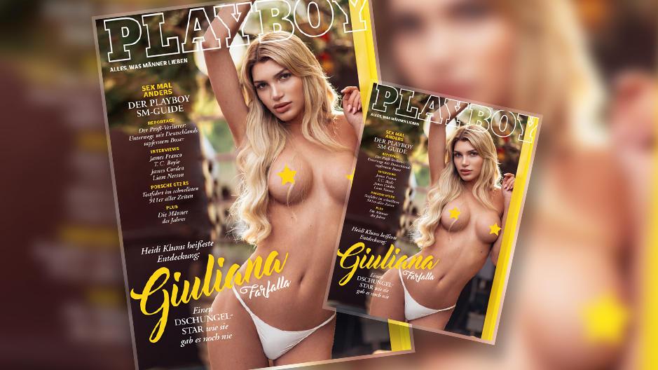 """Giuliana Farfallla ist das erste transsexuelle """"Playboy""""-Covergirl in Deutschland."""