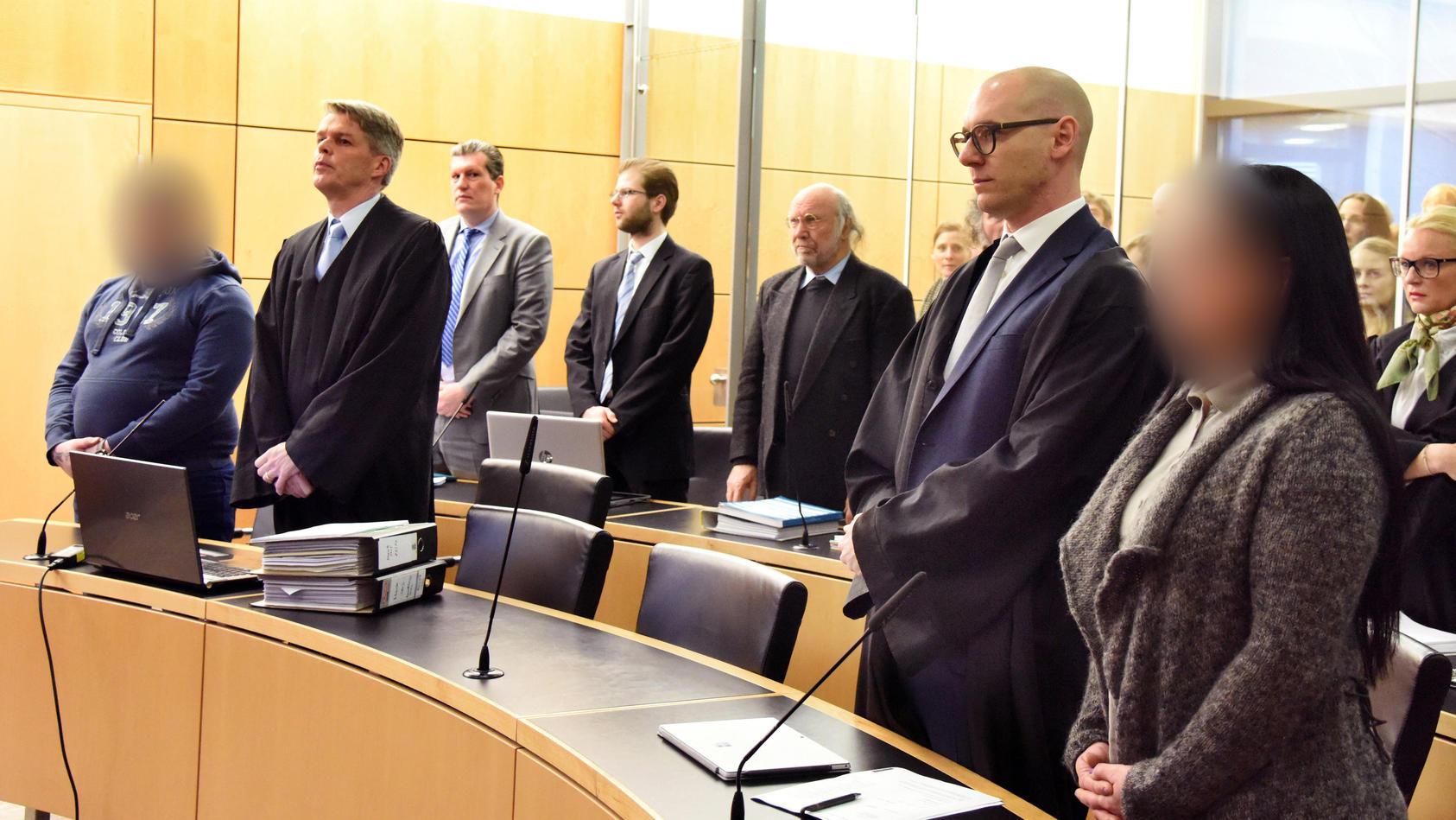 Mordprozess in Darmstadt: Die Angeklagten schweigen.