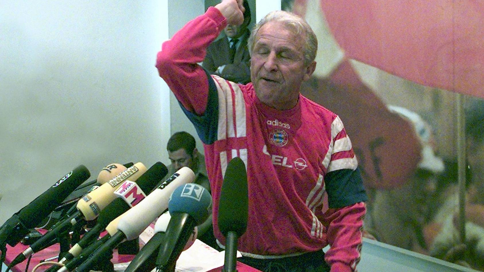 Giovanni Trapattoni in der denkwürdigsten Pressekonferenzen in der Geschichte des FC Bayern und der Bundesliga