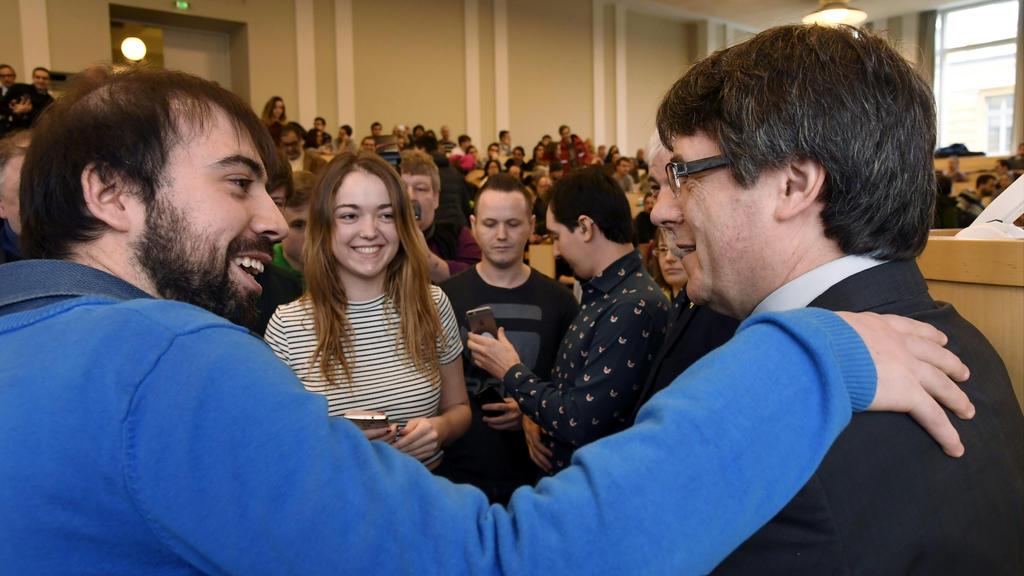 Puigdemont hatte an der Uni Helsinki eine Rede gehalten.