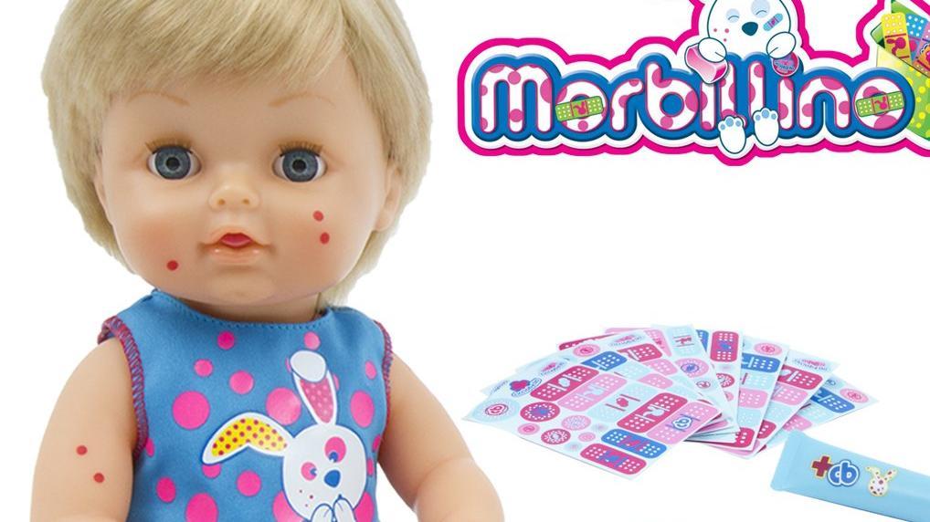 Die Masern-Puppe 'Cicciobello Morbillino' des Herstellers Giochi Preziosi sorgt in Italien für mächtig Ärger.