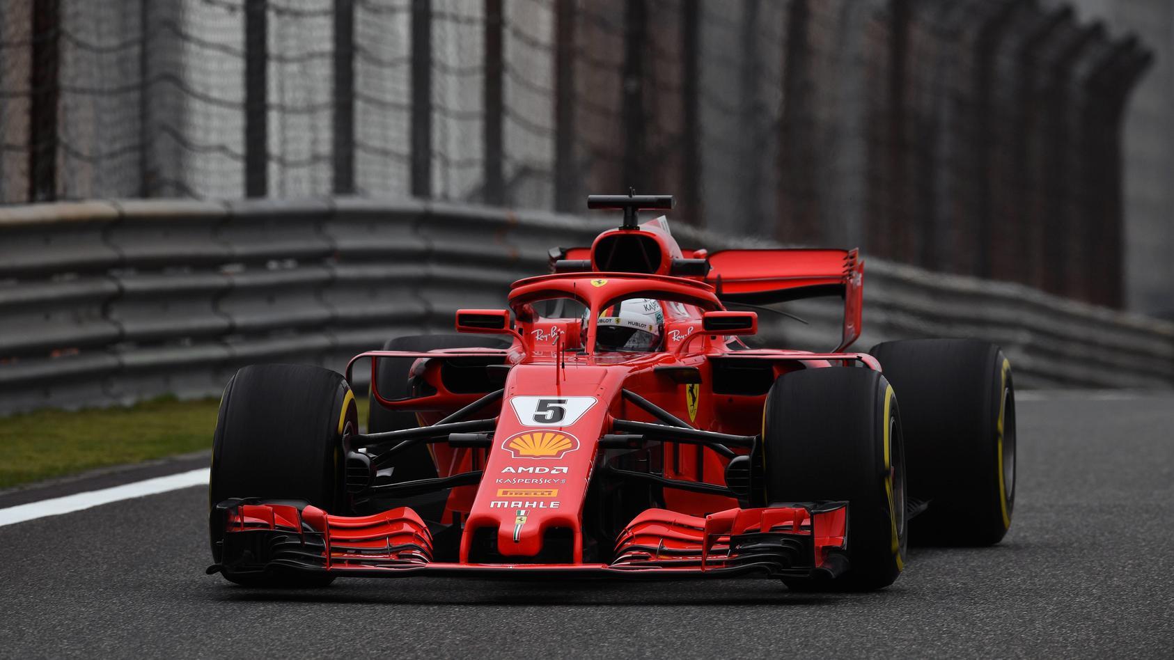 Fehlerfrei und klar der Schnellste: Sebastian Vettel beim letzten Training vor dem Qualifying in Shanghai