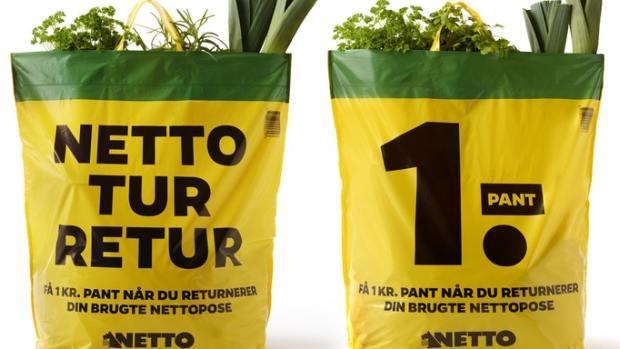 Die dänische Supermarktkette Netto hat auf der Insel Fünen ein Pfand auf Plastiktüten eingeführt.