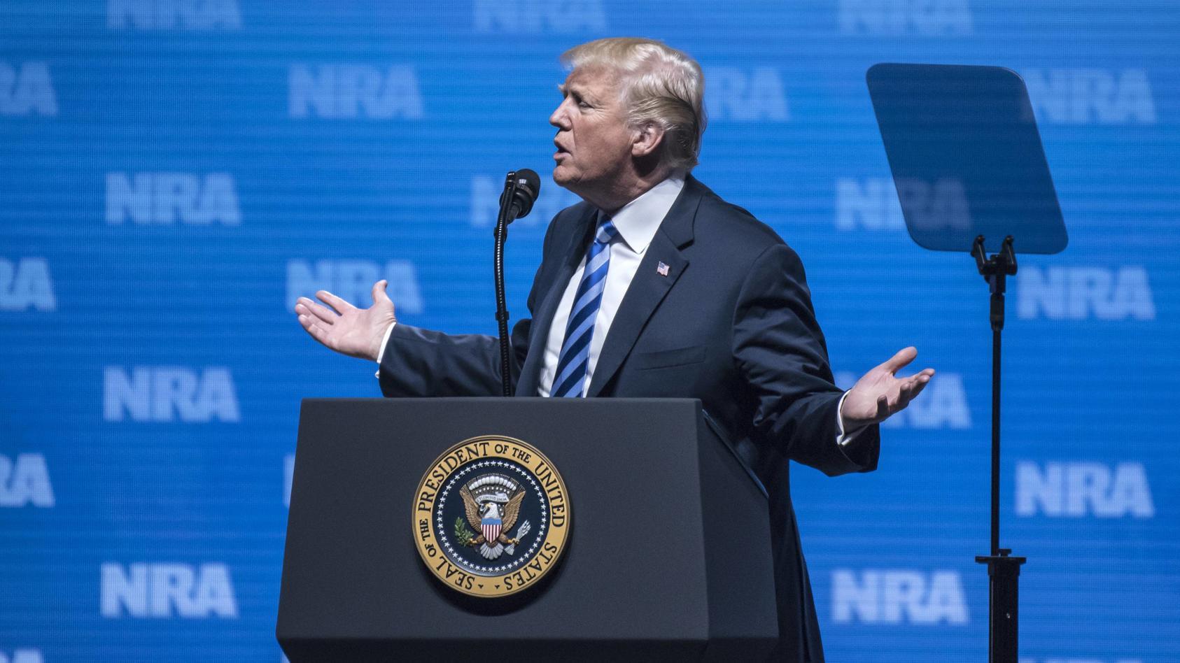 Donald Trump hat in Dallas eine flammende Rede gehalten - für das bestehende US-Waffenrecht.