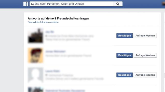 Freundschaftsanfragen Bei Facebook
