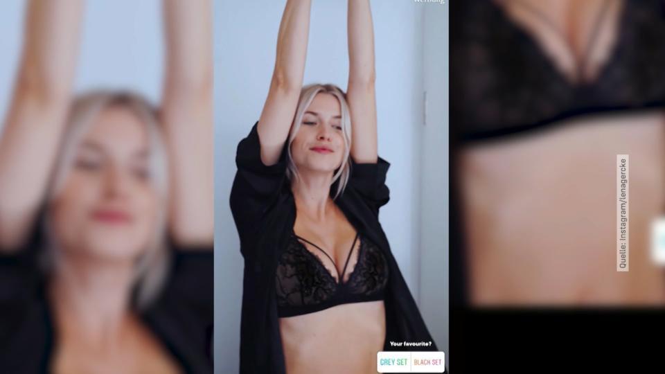 Die Schöne Alexis Gibt Mit Ihrem Heißen Körper An