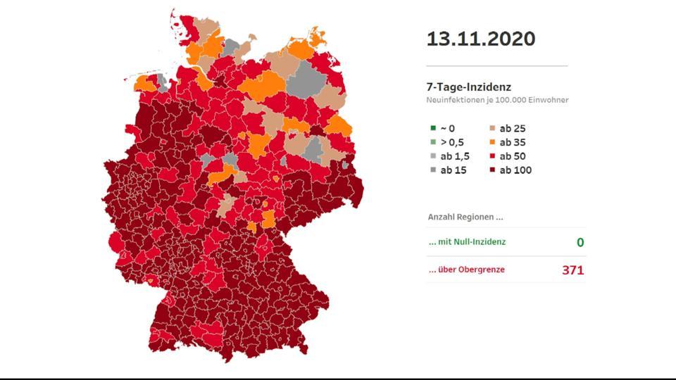 Corona 7 Tage Inzidenz Deutschland